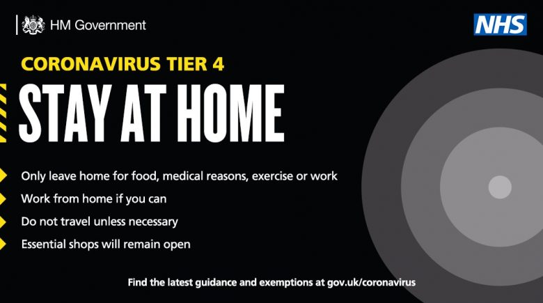 coronavirus tier 4 government announcement bulletin